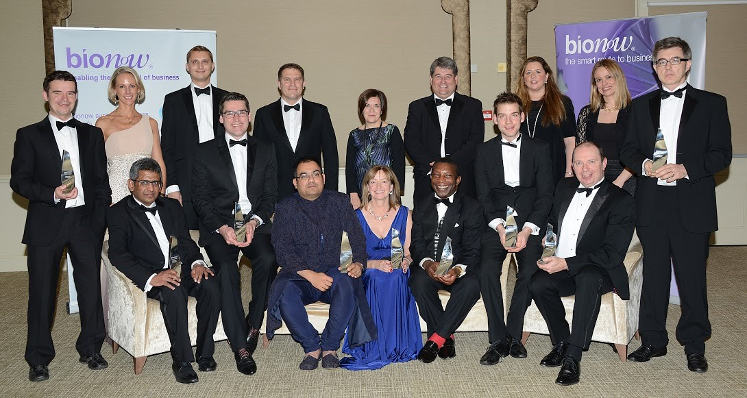 Winners and sponsors at the BioNow 2013 Awards